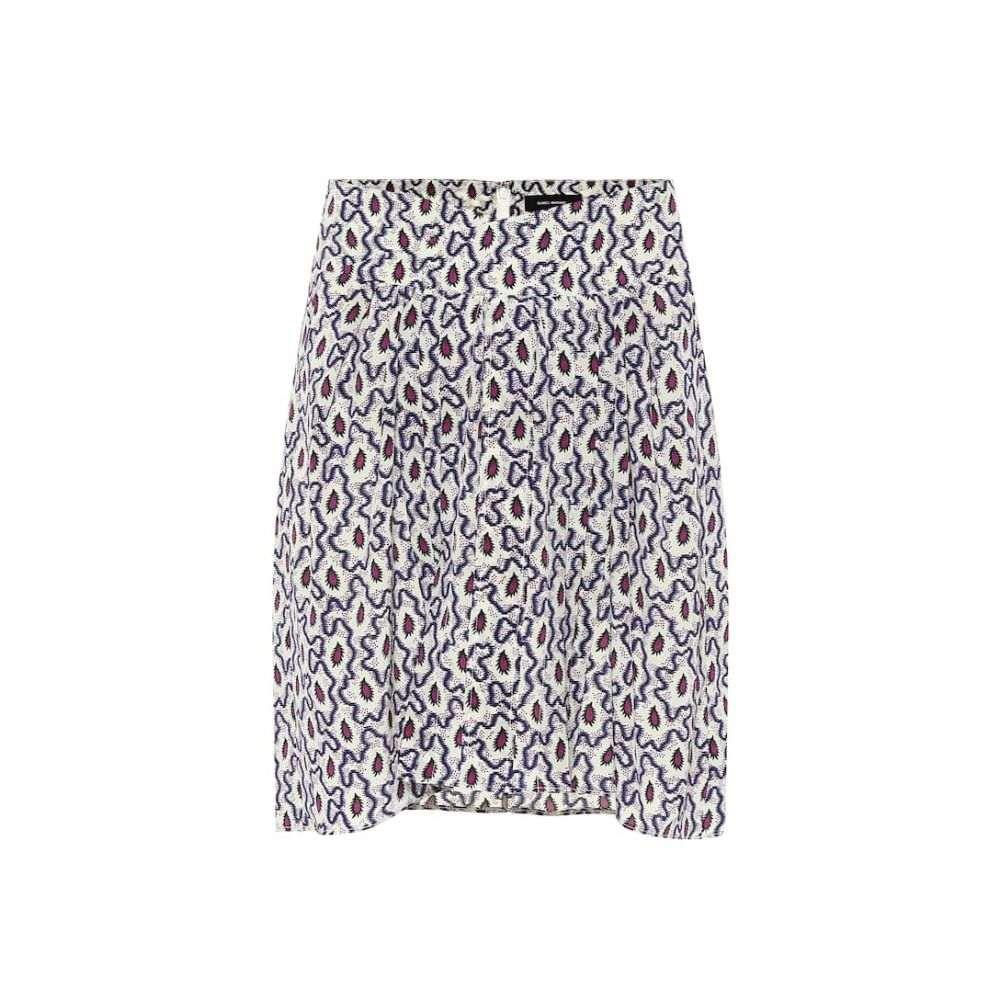 イザベル マラン Isabel Marant レディース ミニスカート スカート【Hemen printed silk miniskirt】Blue