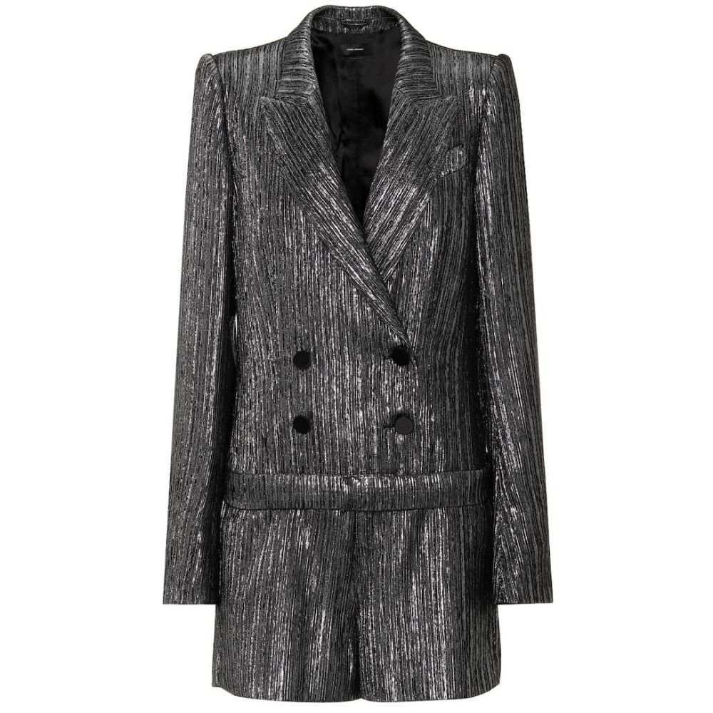 イザベル マラン Isabel Marant レディース オールインワン ジャンプスーツ ワンピース・ドレス【Derron silk-blend jumpsuit】Silver