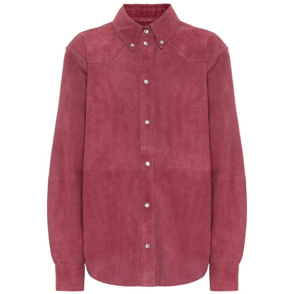イザベル マラン Isabel Marant, Etoile レディース ブラウス・シャツ トップス【Selina suede shirt】raspberry