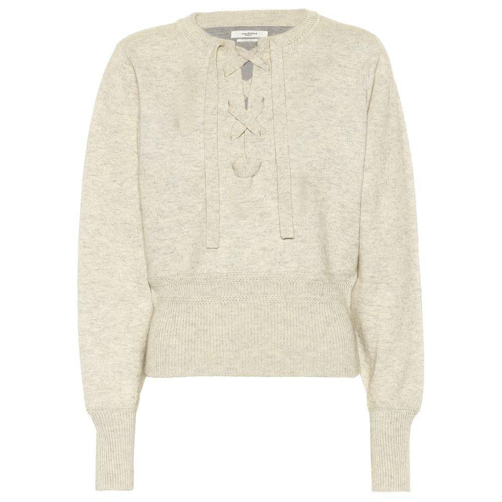 イザベル マラン Isabel Marant, Etoile レディース ニット・セーター レースアップ トップス【Lace-up sweater】Light Grey