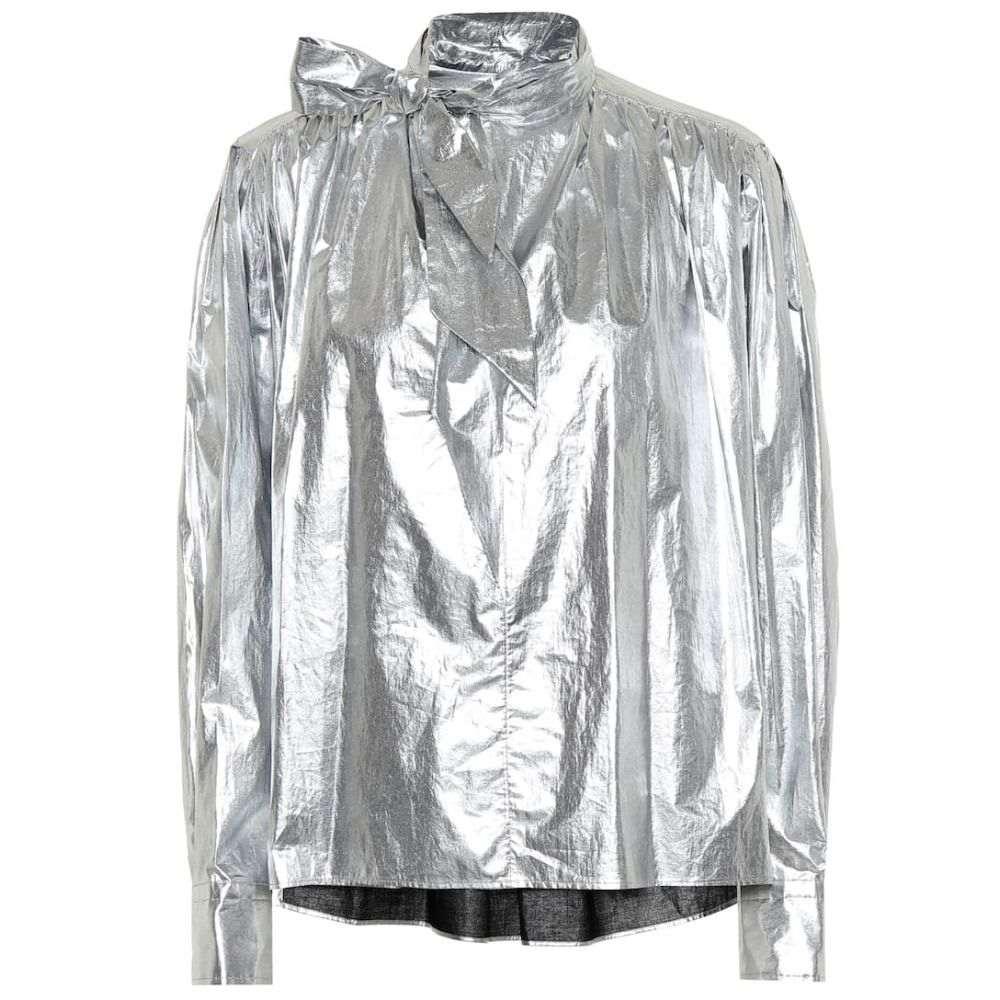 イザベル マラン Isabel Marant レディース ブラウス・シャツ トップス【Tessa cotton metallic blouse】Silver