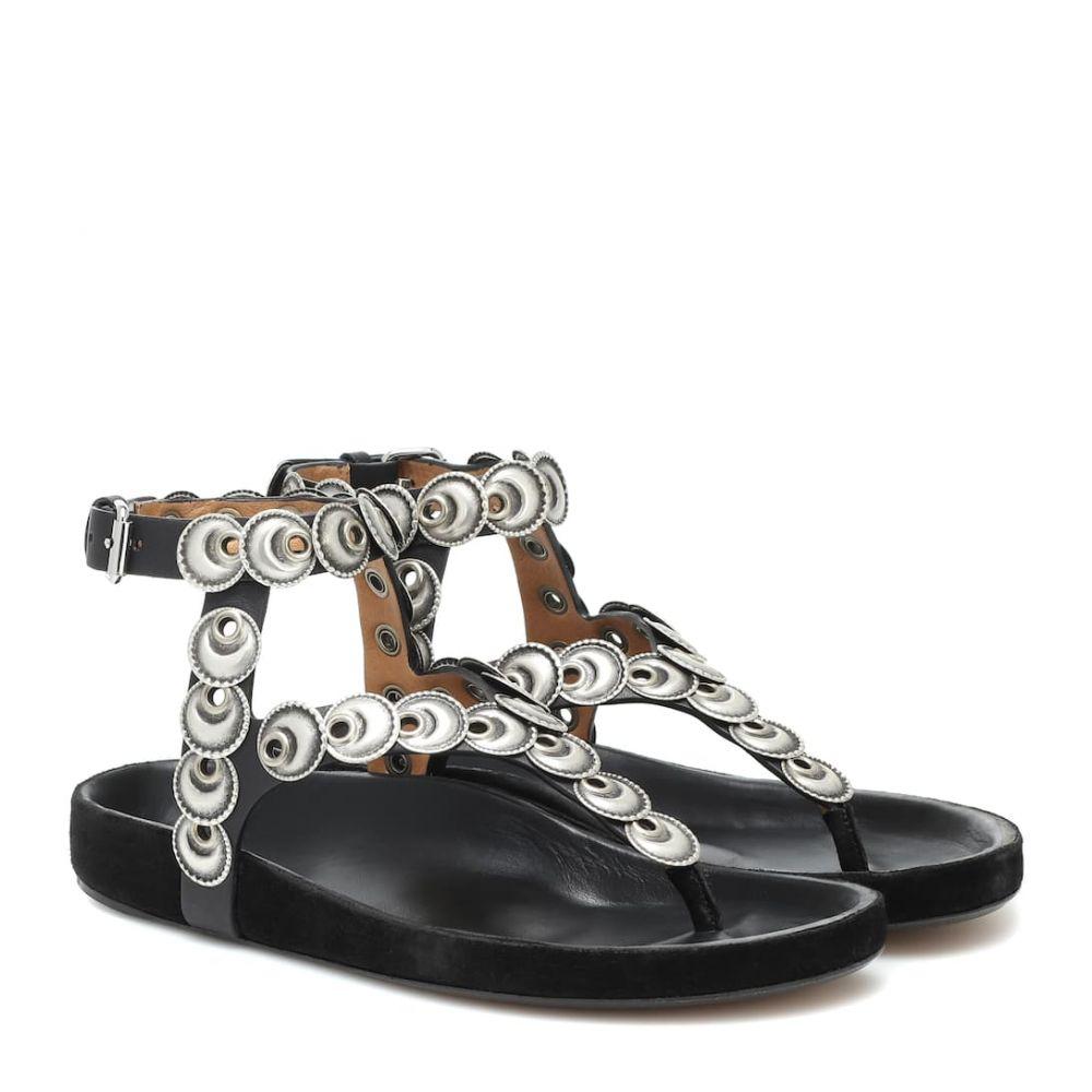 イザベル マラン Isabel Marant レディース サンダル・ミュール シューズ・靴【Eldo embellished leather sandals】Black