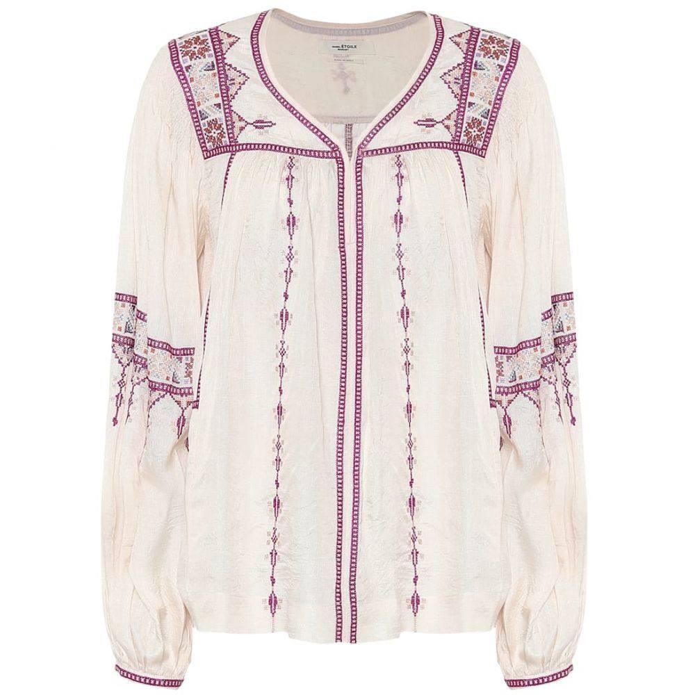 イザベル マラン Isabel Marant, Etoile レディース ブラウス・シャツ トップス【Tosca embroidered silk blouse】Ecry