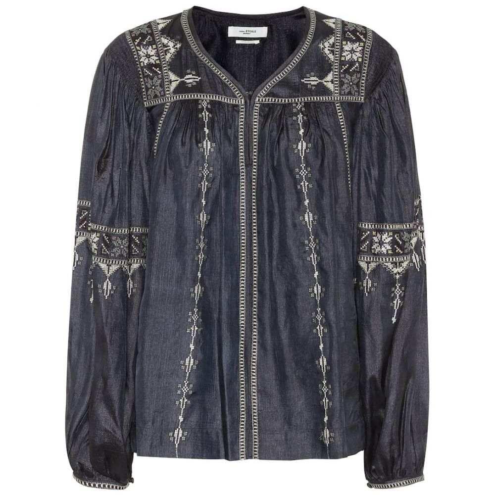 イザベル マラン Isabel Marant, Etoile レディース ブラウス・シャツ トップス【Tosca embroidered silk blouse】Faded Black