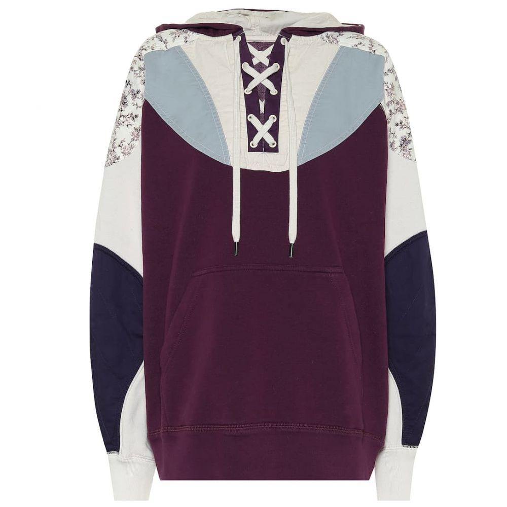 イザベル マラン Isabel Marant, Etoile レディース パーカー トップス【Nanslyia cotton-blend hoodie】Purple