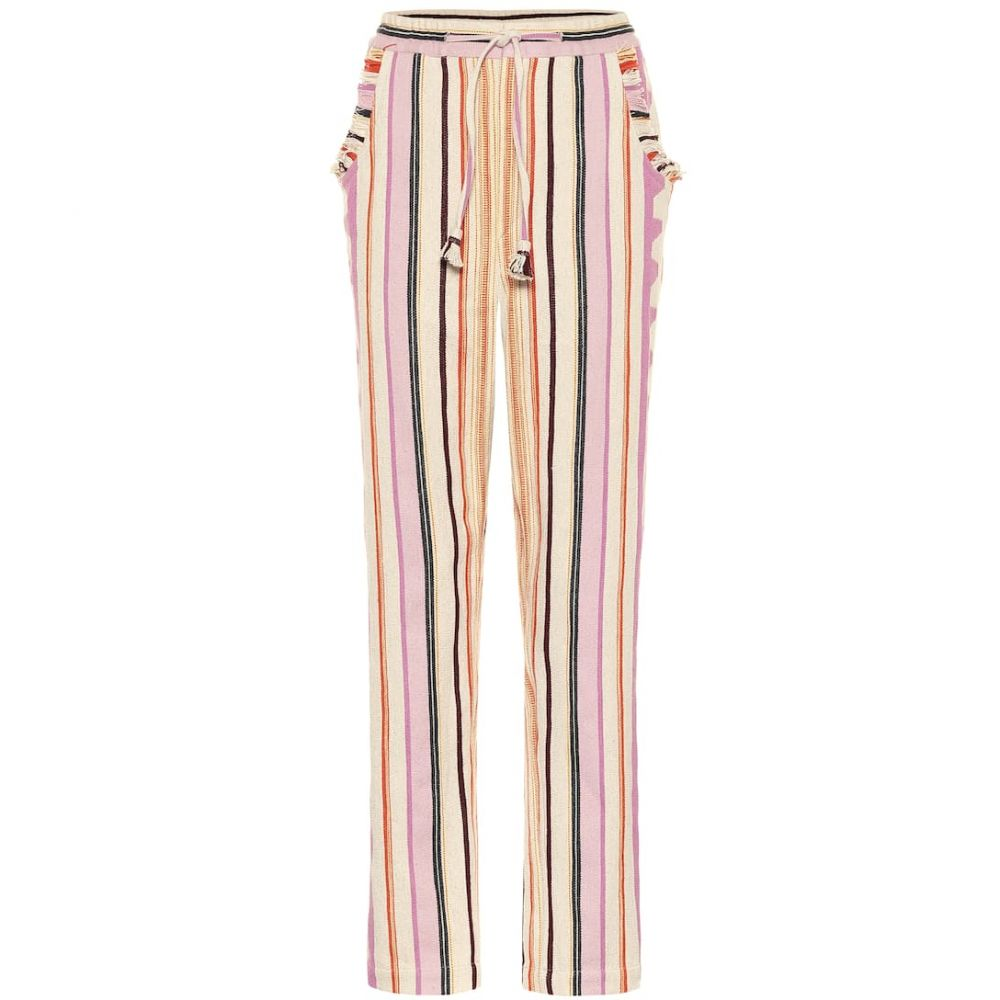 イザベル マラン Isabel Marant レディース ボトムス・パンツ 【Powlandi cotton-blend pants】Ecru/Pink