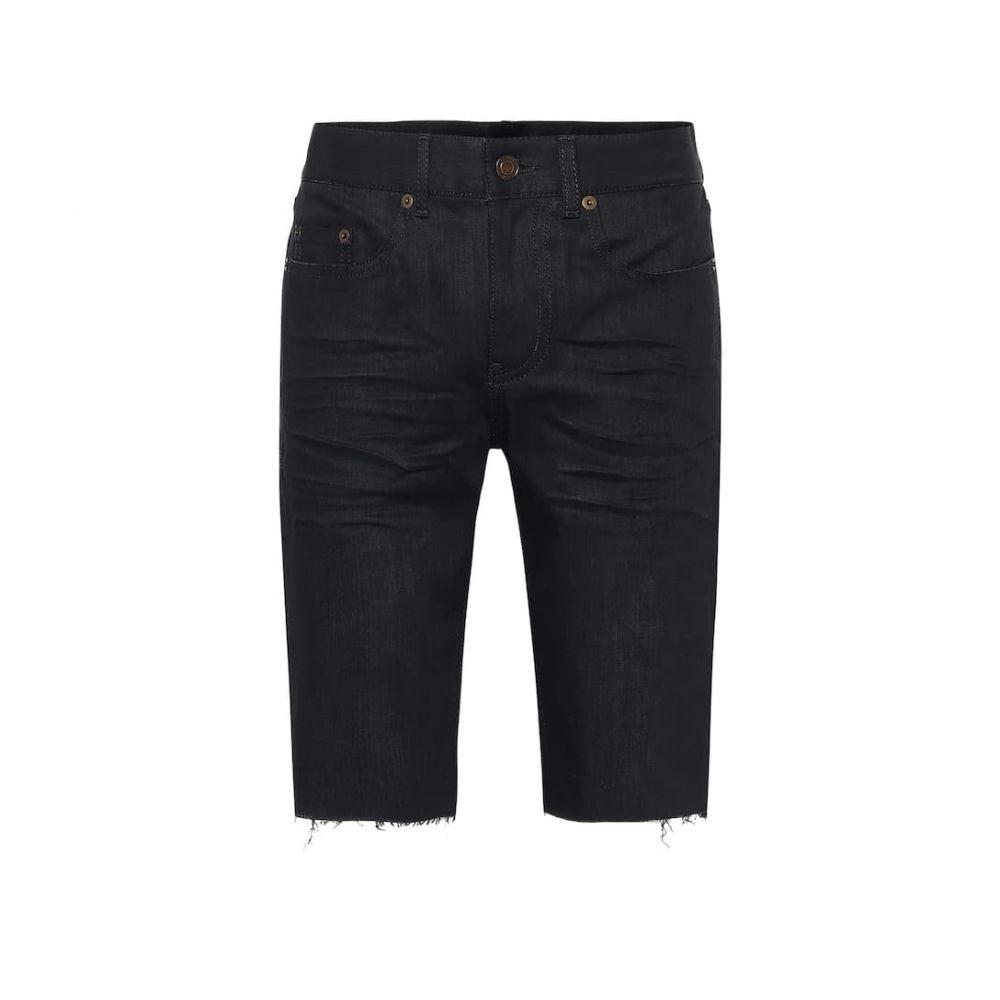 イヴ サンローラン Saint Laurent レディース ショートパンツ バミューダ ボトムス・パンツ【Stretch-denim Bermuda shorts】Used Black