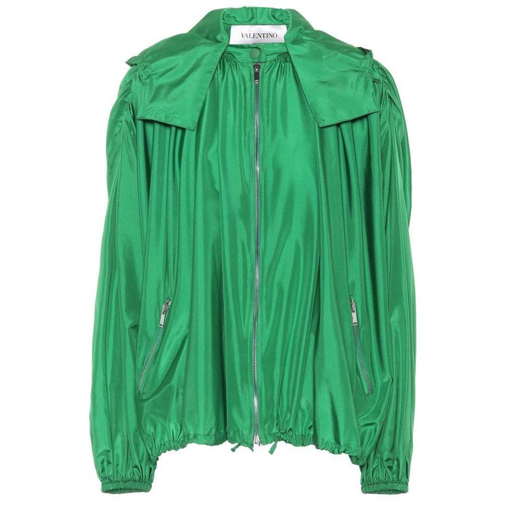 ヴァレンティノ Valentino レディース ジャケット フード アウター【Silk Hooded jacket】Emerald