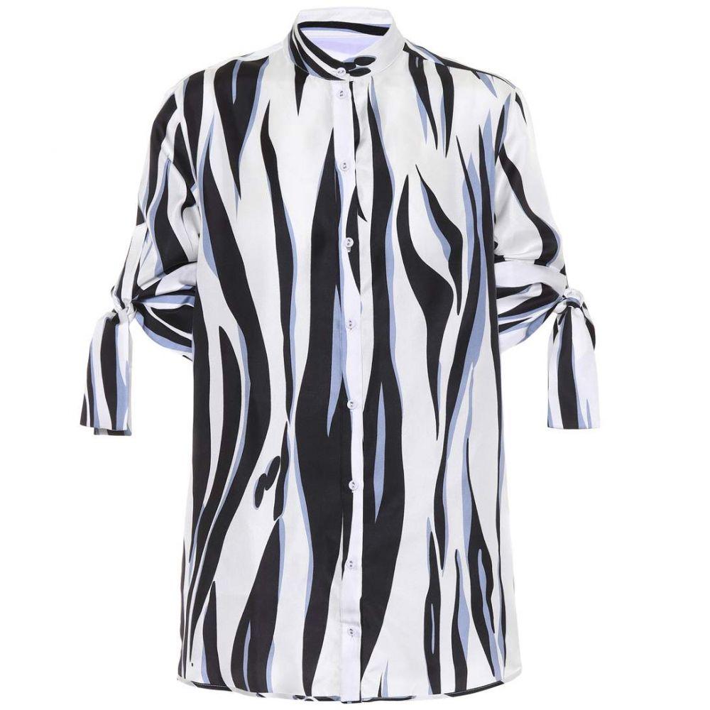 ヴィクトリア ベッカム Victoria Victoria Beckham レディース トップス 【Printed silk top】Tiger Stripe Storm