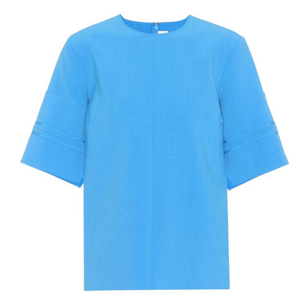 ヴィクトリア ベッカム Victoria Victoria Beckham レディース Tシャツ トップス【Crepe T-shirt】Azure