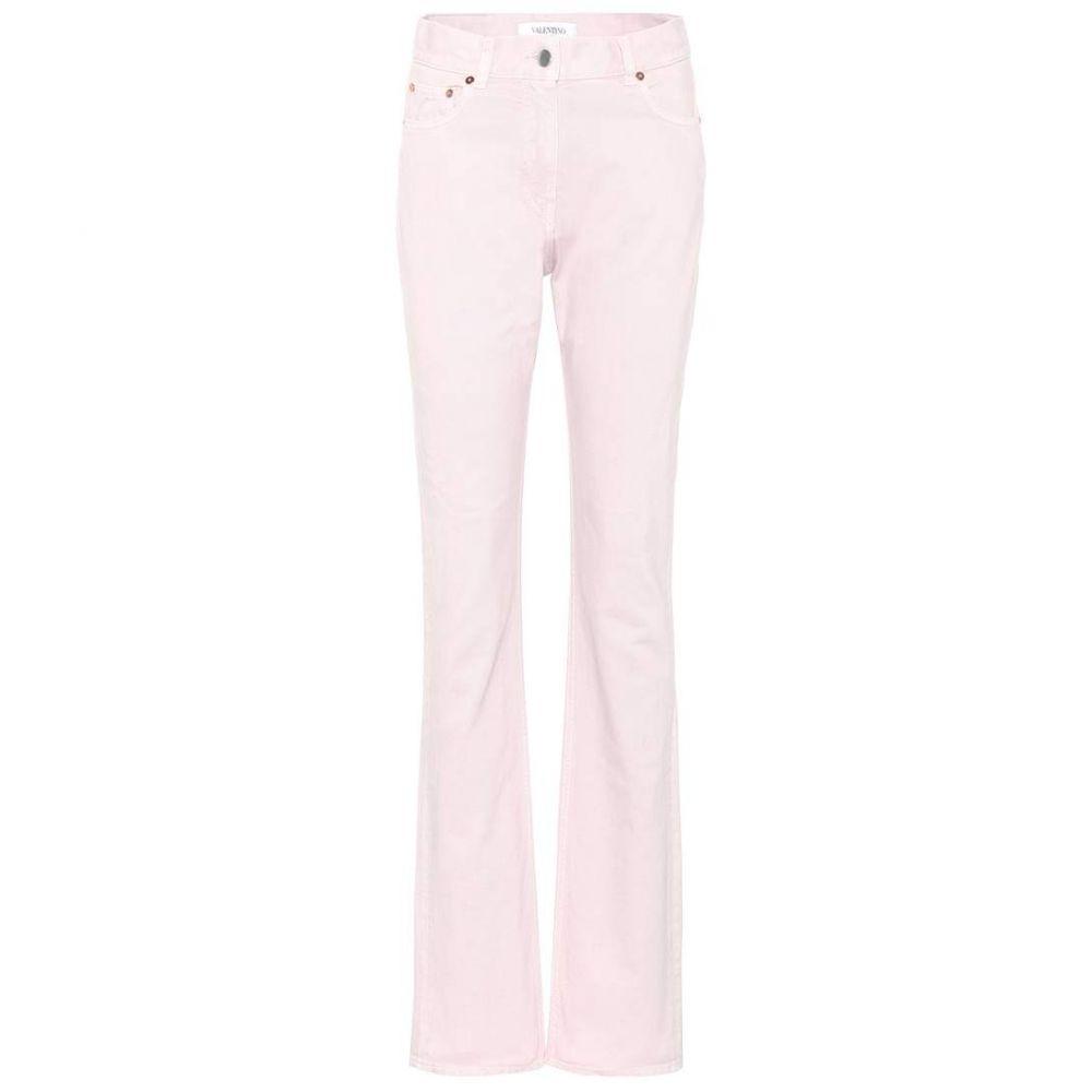ヴァレンティノ Valentino レディース ジーンズ・デニム ボトムス・パンツ【High-waisted slim-straight jeans】Poudre