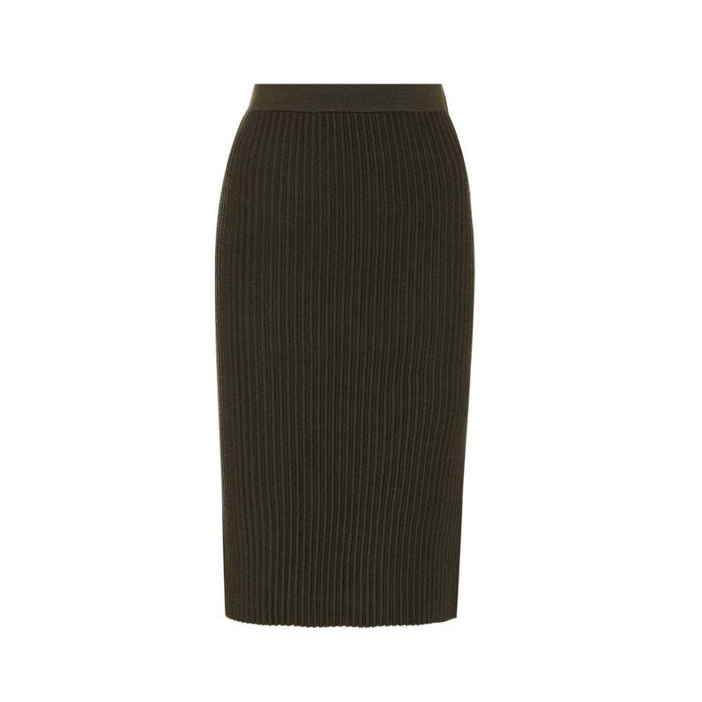 ヴィクトリア ベッカム Victoria Victoria Beckham レディース スカート 【Ribbed-knit wool skirt】Topaz