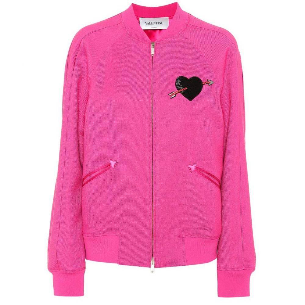 ヴァレンティノ Valentino レディース ジャージ アウター【Embellished track jacket】Shadow Pink