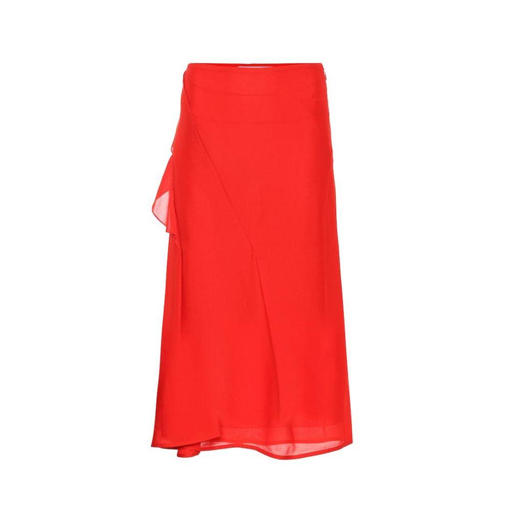 ヴィクトリア ベッカム Victoria Beckham レディース ひざ丈スカート スカート【Silk midi skirt】Bright Red