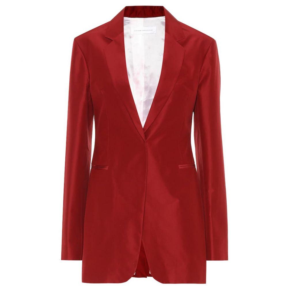 ヴィクトリア ベッカム Victoria Beckham レディース スーツ・ジャケット アウター【Cotton and silk blazer】Burgundy