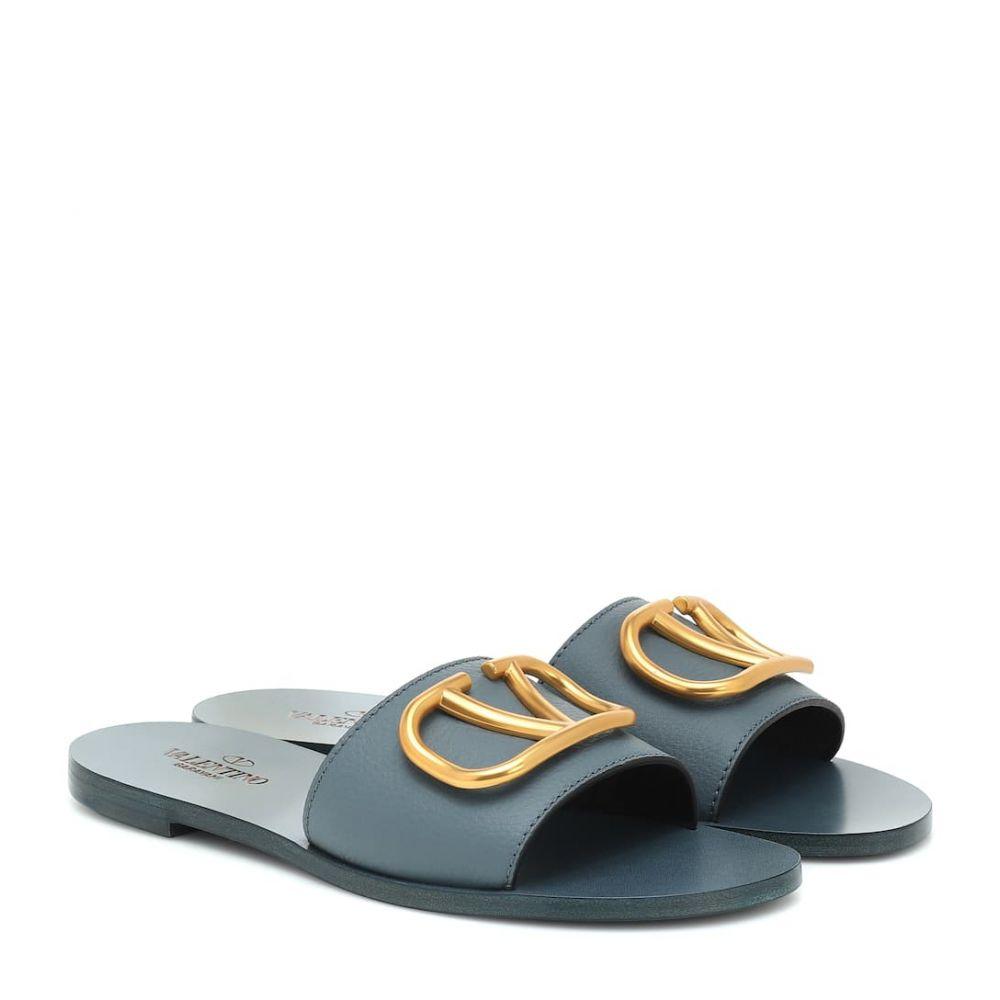 ヴァレンティノ Valentino レディース サンダル・ミュール シューズ・靴【Garavani VLOGO leather slides】Amadeus