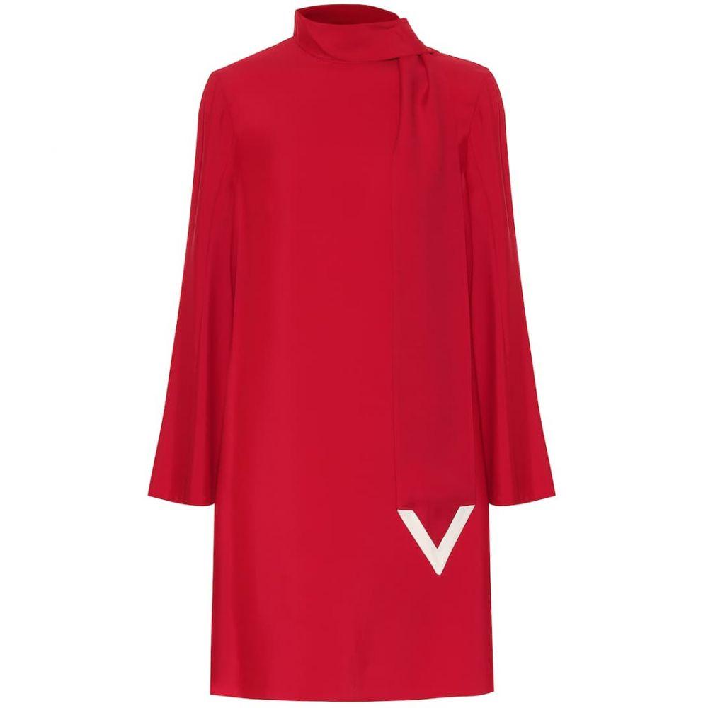 ヴァレンティノ Valentino レディース ワンピース シフトドレス ワンピース・ドレス【VLOGO shift dress】Rosso/Avorio