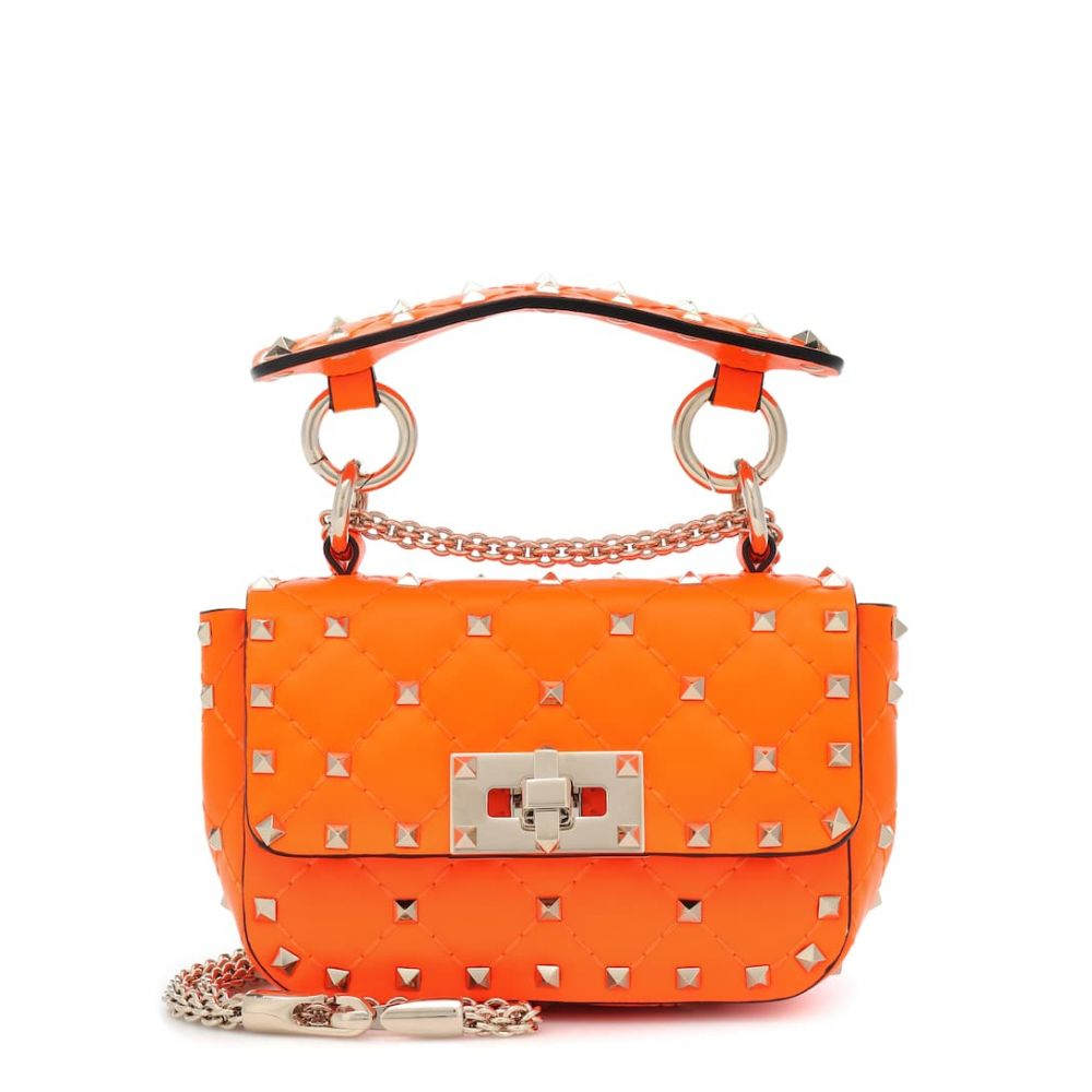 ヴァレンティノ Valentino レディース ショルダーバッグ バッグ【Garavani Rockstud Spike Mini leather crossbody bag】Orange