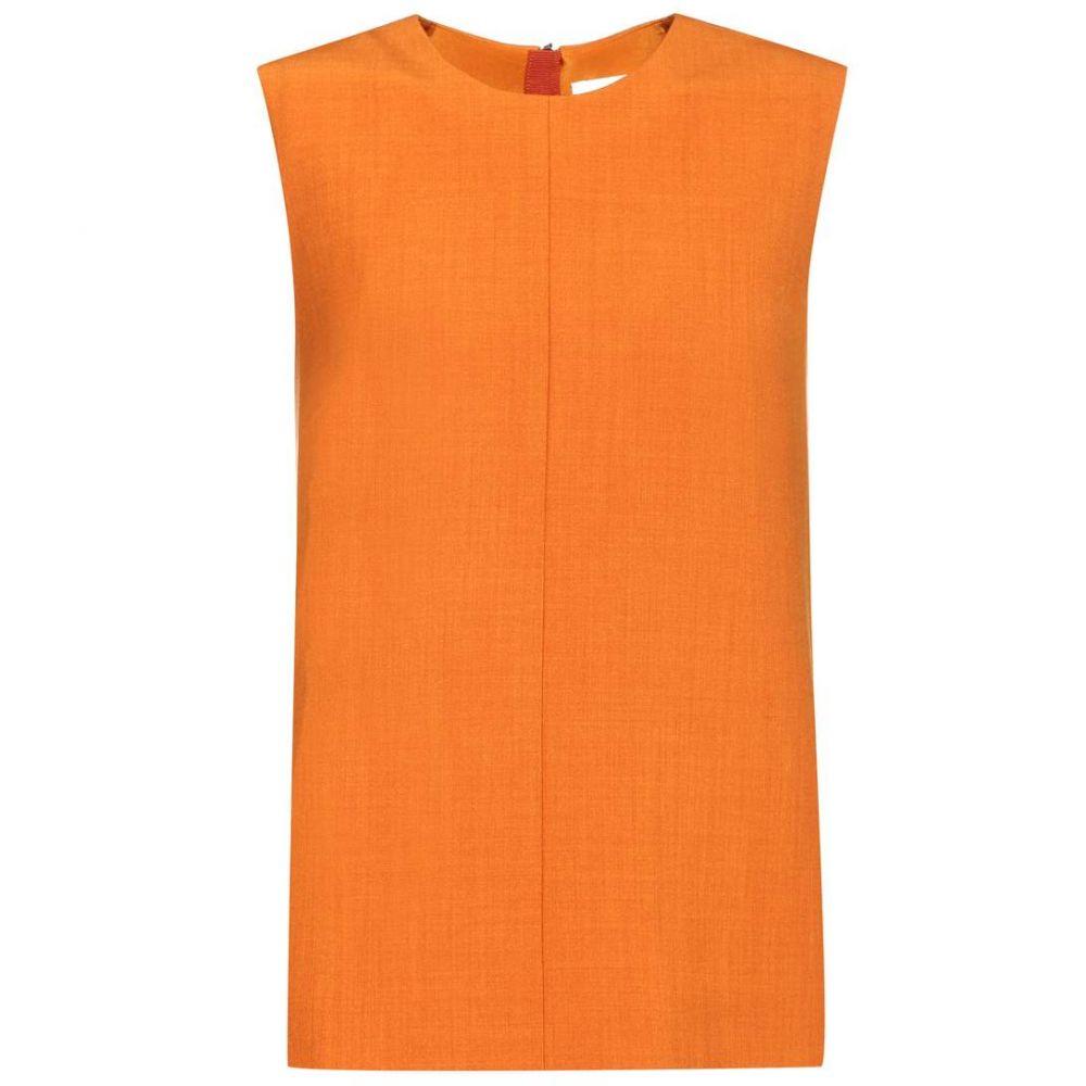 ヴィクトリア ベッカム Victoria Victoria Beckham レディース ノースリーブ トップス【Sleeveless wool-blend top】Maple Orange
