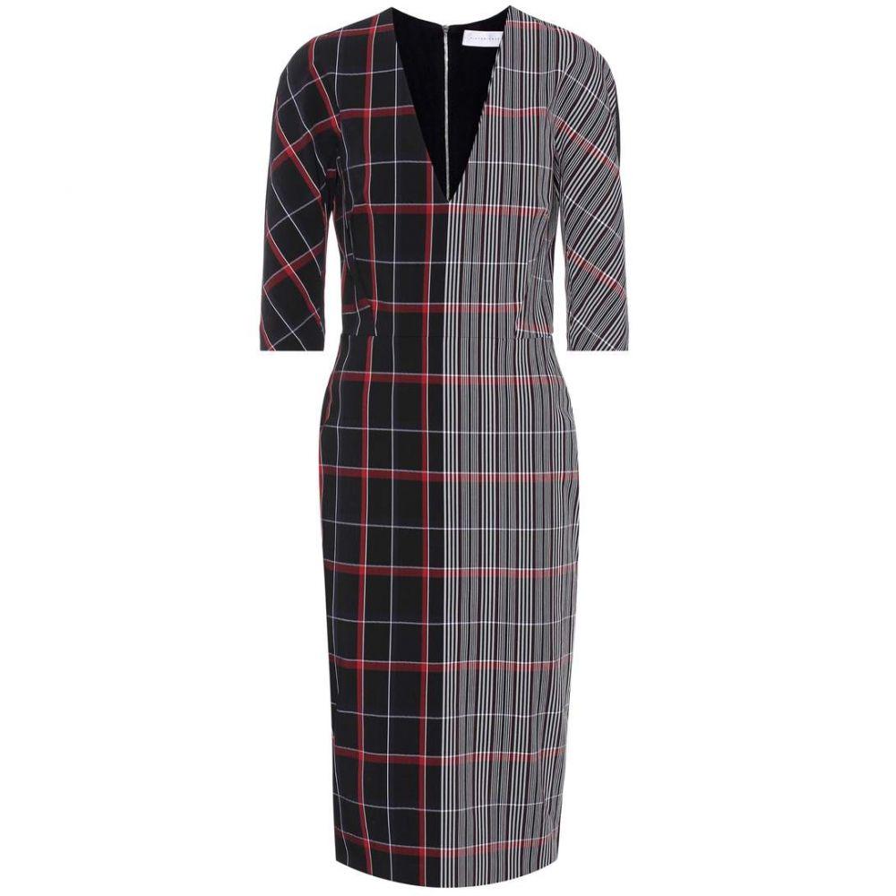ヴィクトリア ベッカム Victoria Beckham レディース ワンピース ワンピース・ドレス【Plaid wool-blend dress】White/Black/Red