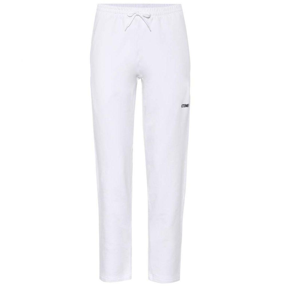 ヴェトモン Vetements レディース スウェット・ジャージ ボトムス・パンツ【Stretch-cotton trackpants】Blanc