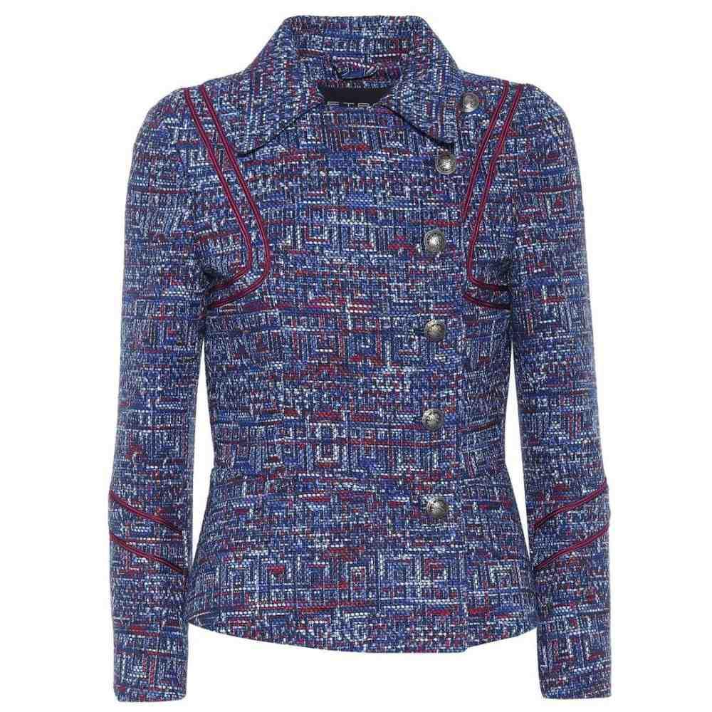 エトロ Etro レディース ジャケット アウター【Tweed jacket】Blue