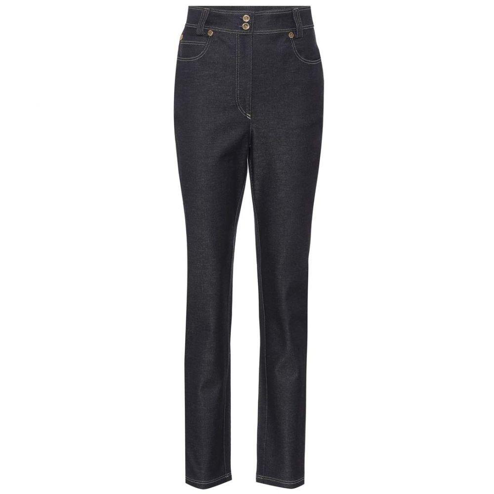 ヴェルサーチ Versace レディース ジーンズ・デニム ボトムス・パンツ【High-waisted slim-fit jeans】Dark Blue