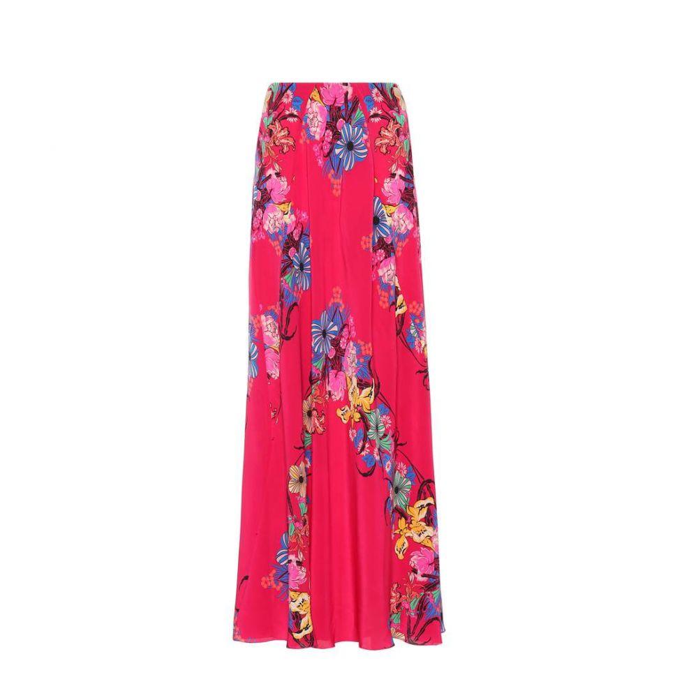 エトロ Etro レディース スカート 【Floral printed silk skirt】Fuschia