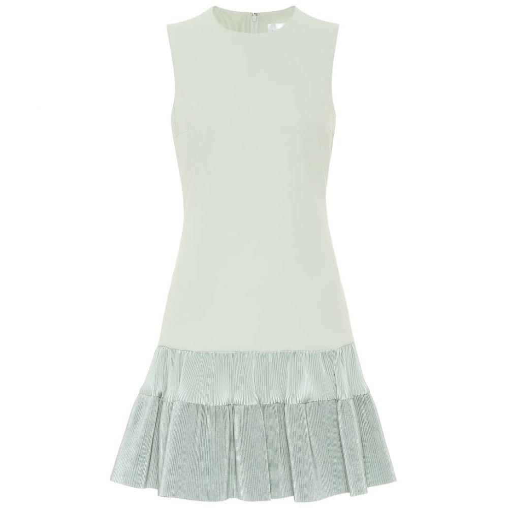 ヴィクトリア ベッカム Victoria Victoria Beckham レディース ワンピース ワンピース・ドレス【Ruffled jersey minidress】Sage