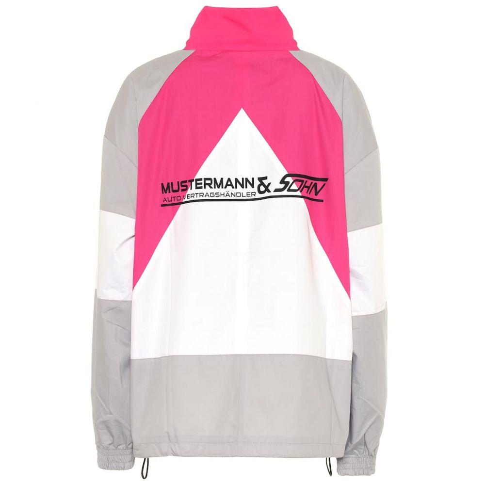 ヴェトモン Vetements レディース ジャージ アウター【Cotton track jacket】Grey/Pink/White