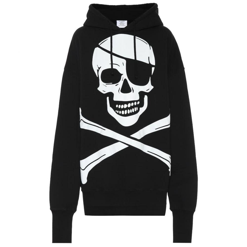 ヴェトモン Vetements レディース パーカー トップス【Printed cotton hoodie】Black