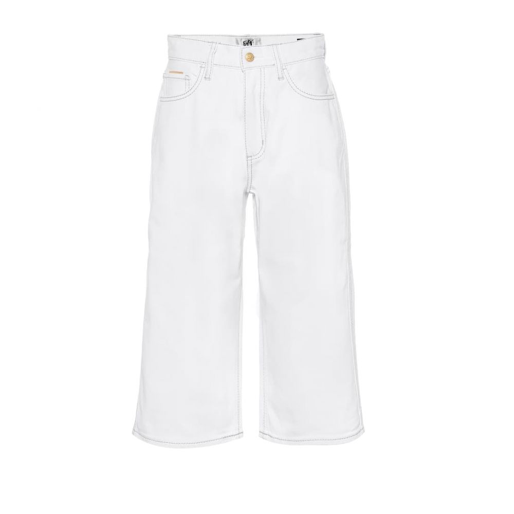 エイティーズ Eytys レディース ジーンズ・デニム ボトムス・パンツ【Boyle Twill high-rise wide-leg jeans】White