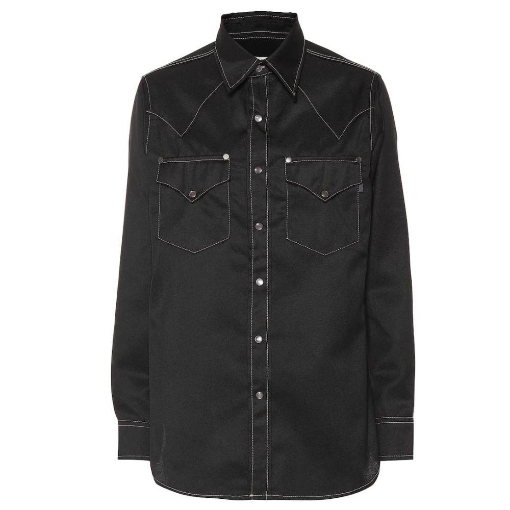 エイティーズ Eytys レディース ブラウス・シャツ トップス【Sierra Cali cotton-blend shirt】Black