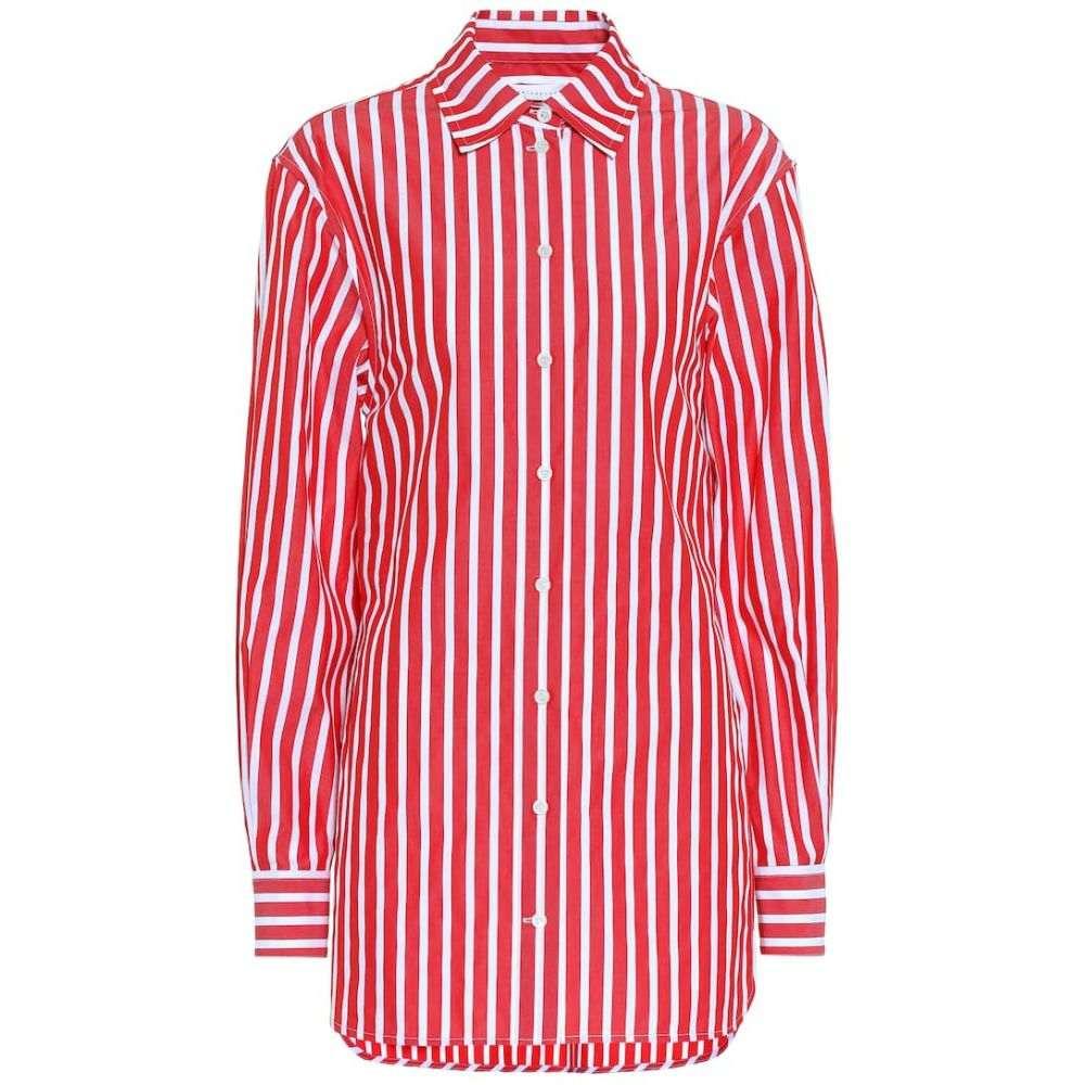ヴィクトリア ベッカム Victoria Beckham レディース ブラウス・シャツ トップス【Striped cotton poplin shirt】Red-White
