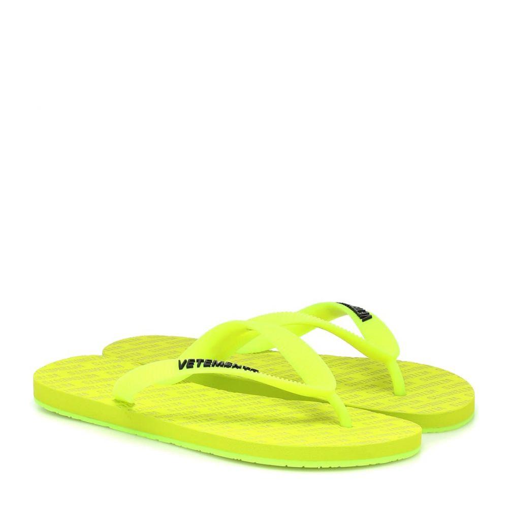 ヴェトモン Vetements レディース サンダル・ミュール シューズ・靴【Logo sandals】Fluo Yellow