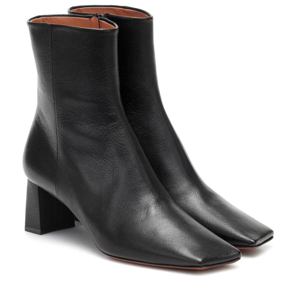 ヴェトモン Vetements レディース ブーツ ショートブーツ シューズ・靴【Boomerang leather ankle boots】Black