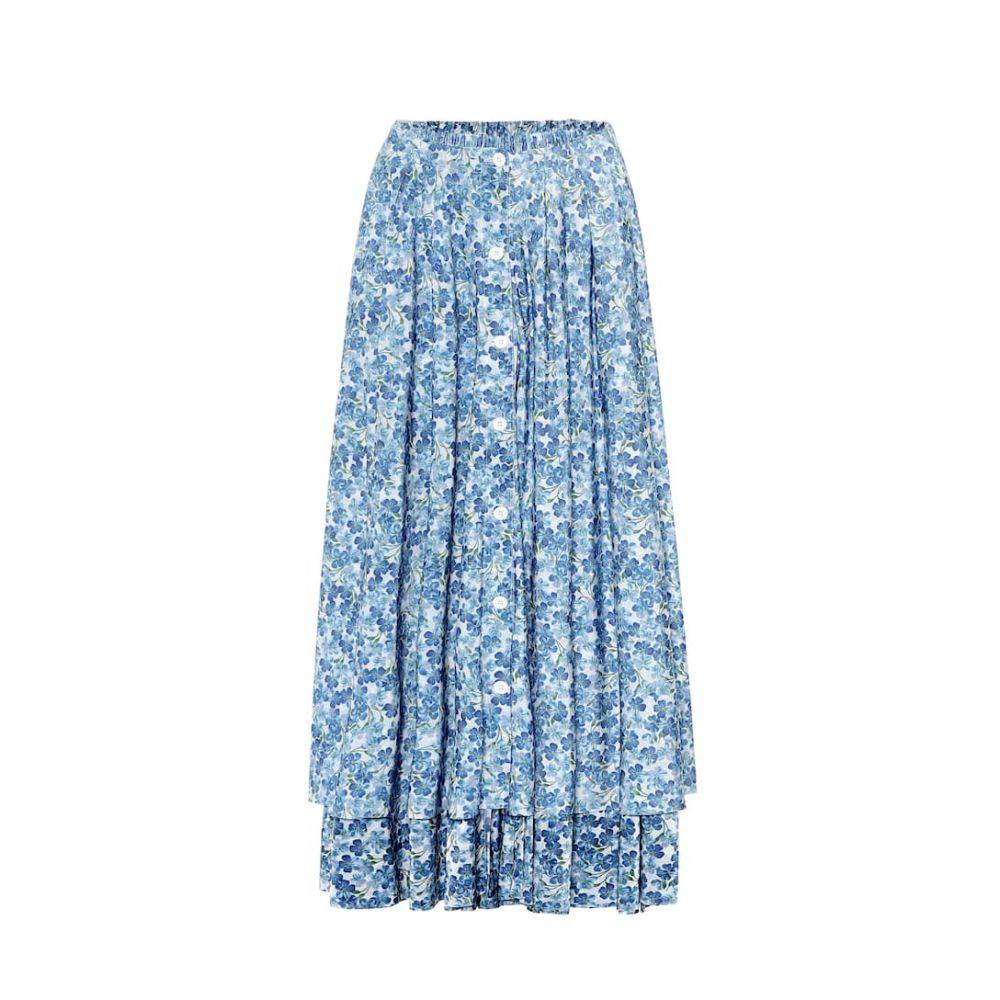 ヴェトモン Vetements レディース ひざ丈スカート スカート【Floral midi skirt】Blue/White Flowers