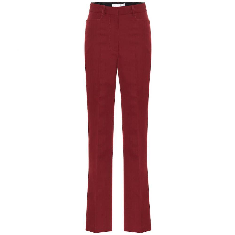 ヴィクトリア ベッカム Victoria Beckham レディース ボトムス・パンツ 【High-rise straight wool-blend pants】Bordeaux