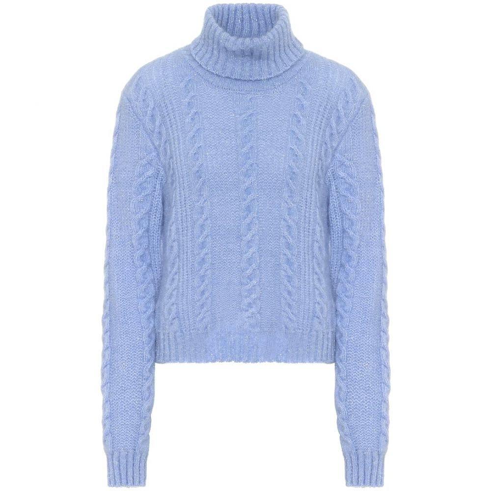 ヴェルサーチ Versace レディース ニット・セーター トップス【Wool-blend sweater】Light Blue