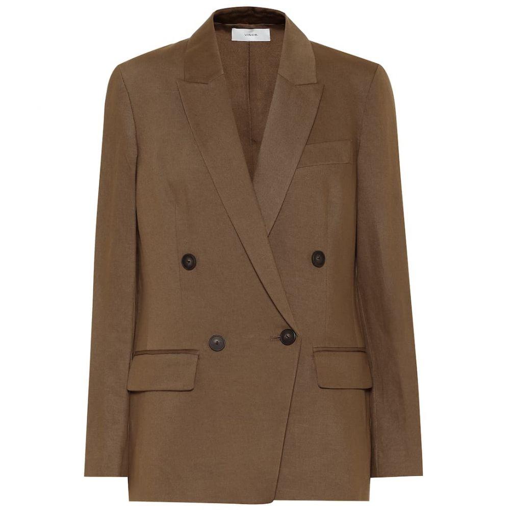 ヴィンス Vince レディース スーツ・ジャケット アウター【Stretch cotton and linen blazer】Timber