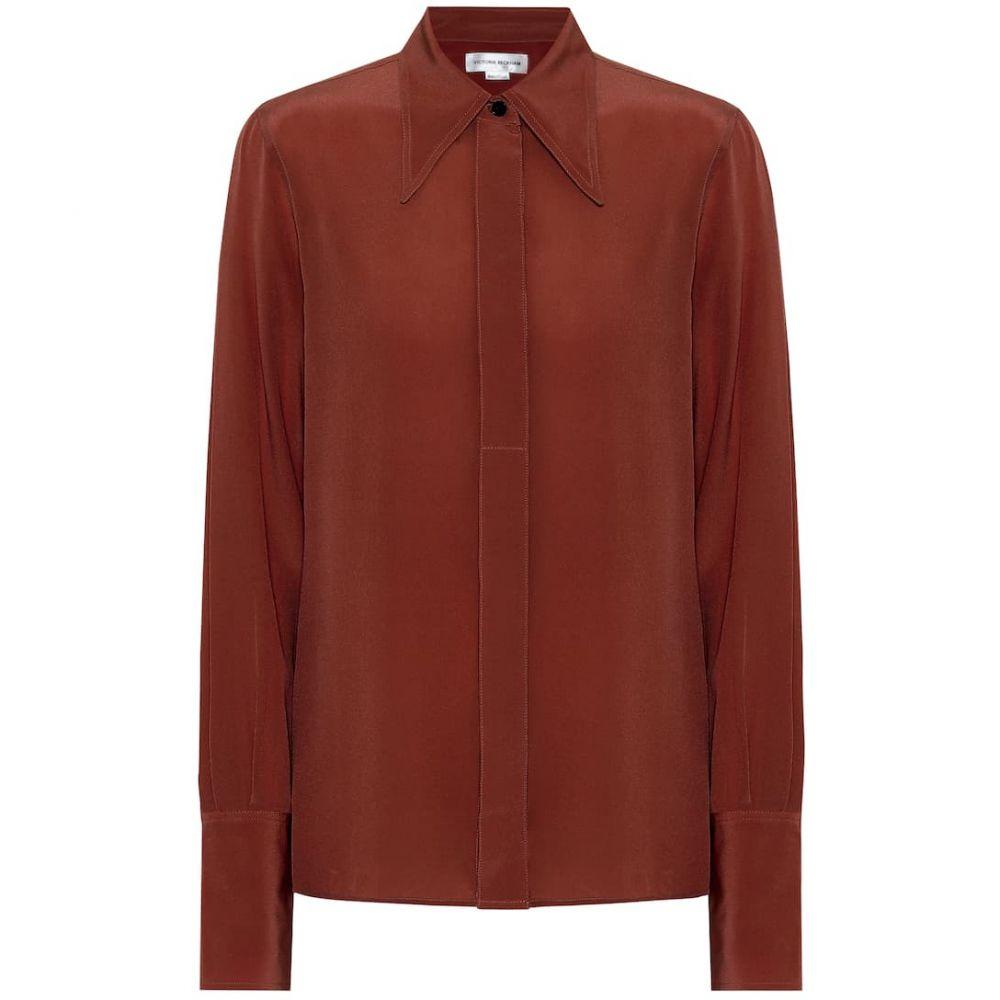 ヴィクトリア ベッカム Victoria Beckham レディース ブラウス・シャツ トップス【Silk shirt】Chestnut