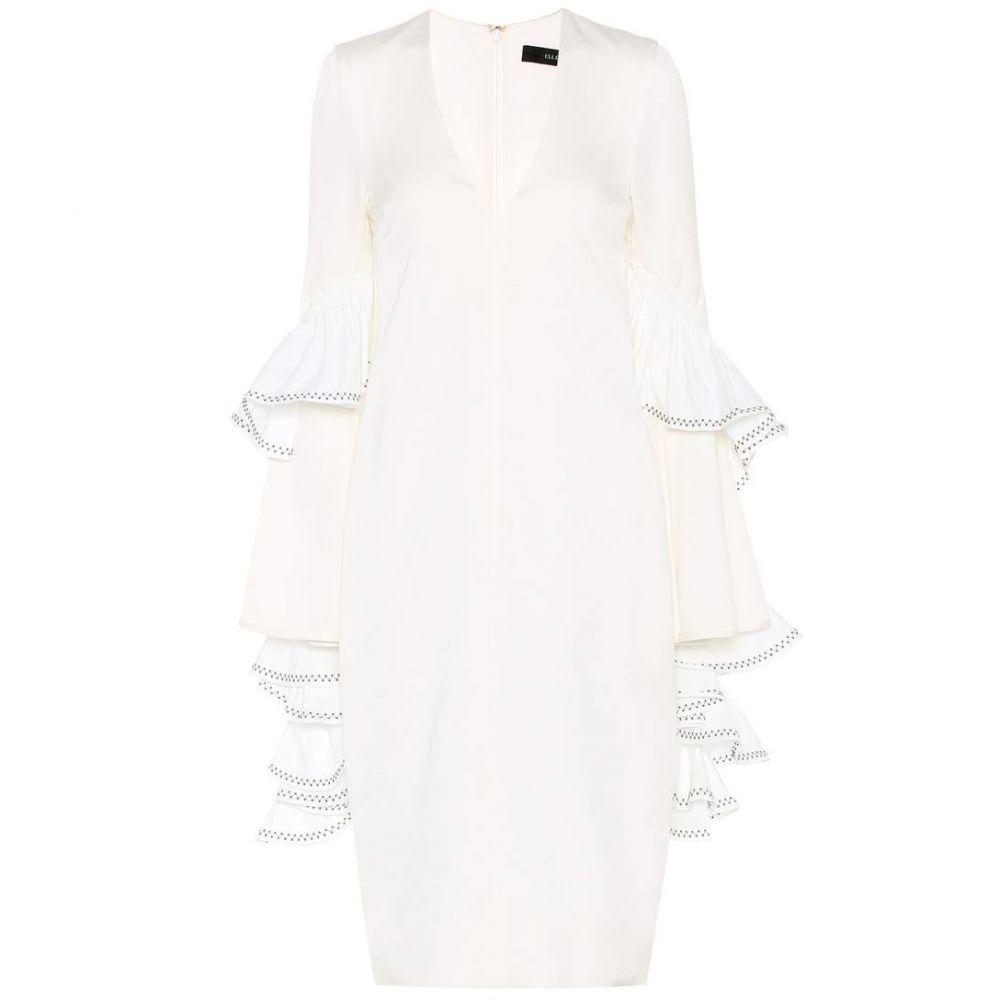 エラリー Ellery レディース ワンピース Vネック ワンピース・ドレス【V-neck dress】Ivory White Bla