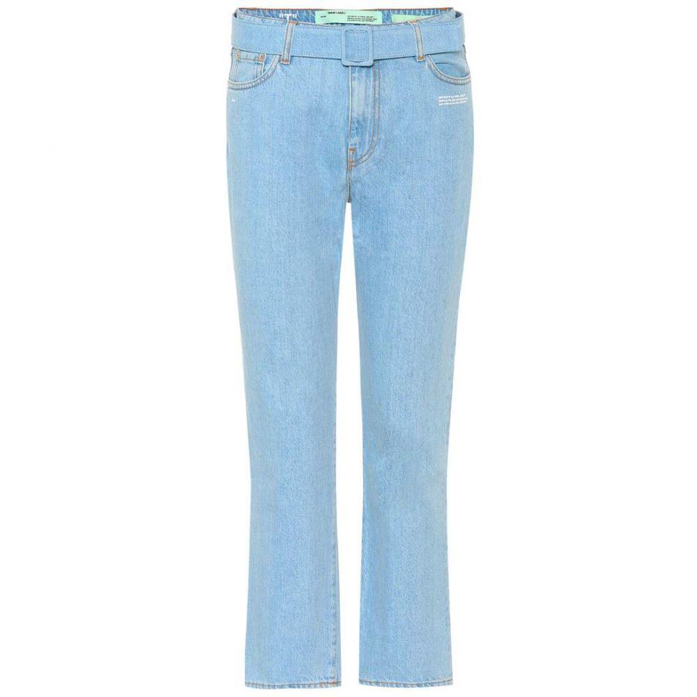 オフホワイト Off-White レディース ジーンズ・デニム ボトムス・パンツ【High-waisted cropped jeans】Bleach White