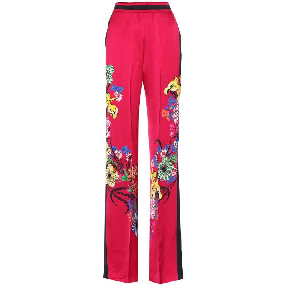 エトロ Etro レディース ボトムス・パンツ 【Floral-printed pants】Fuschia