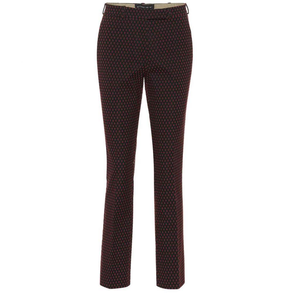 エトロ Etro レディース ボトムス・パンツ 【Jacquard cotton-blend pants】Black