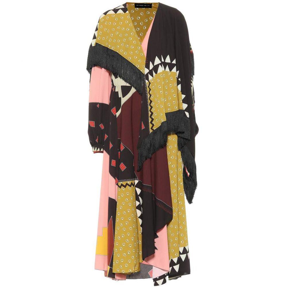 エトロ Etro レディース ワンピース ワンピース・ドレス【Printed crepe dress with fringe】