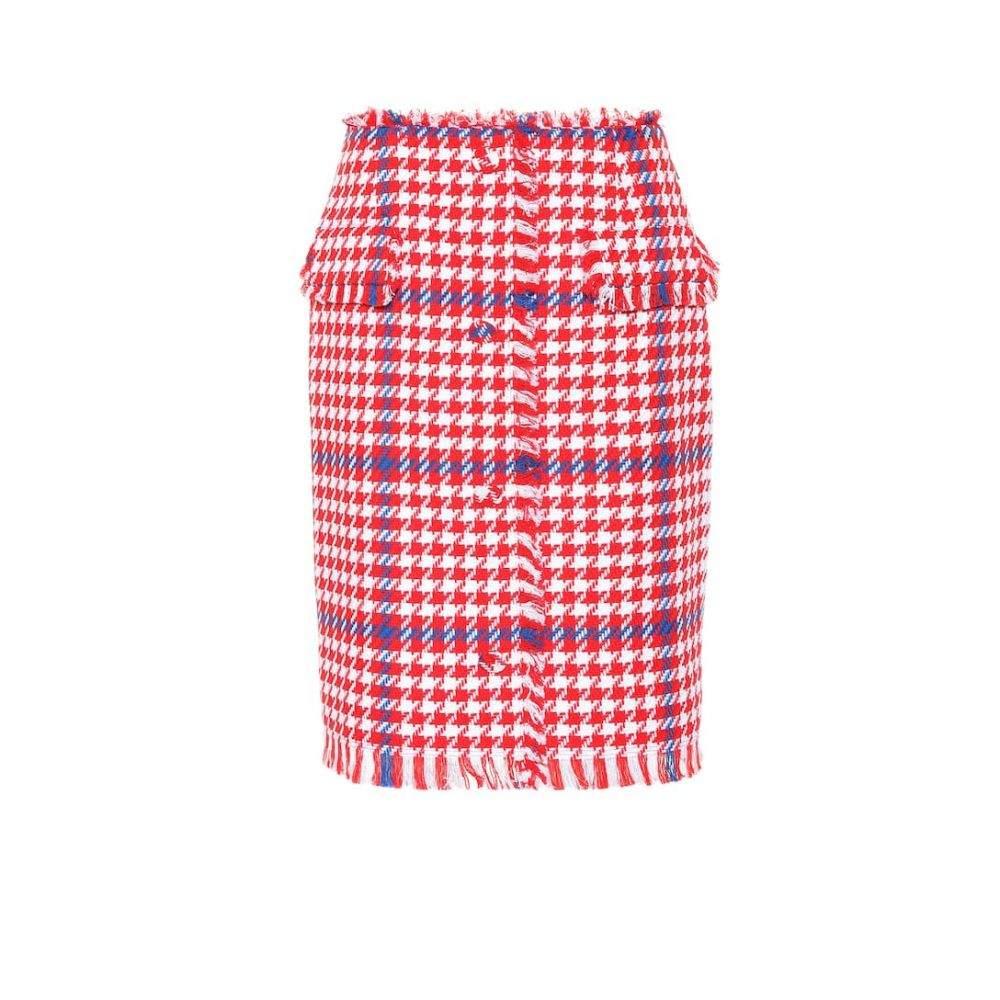 エムエスジーエム MSGM レディース スカート 【Houndstooth tweed skirt】red