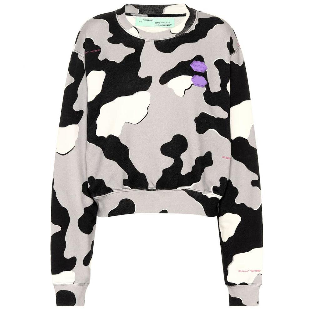 オフホワイト Off-White レディース ニット・セーター トップス【printed cotton sweater】Camo