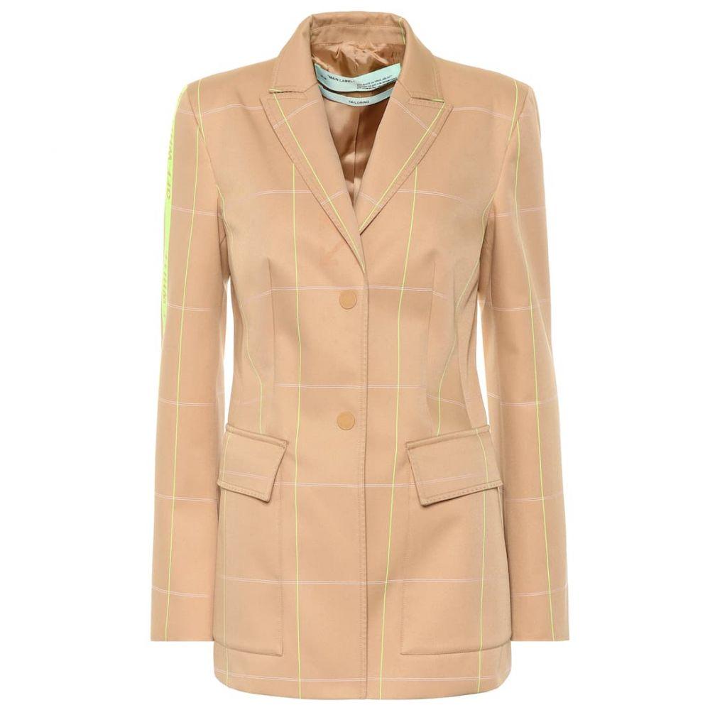 オフホワイト Off-White レディース スーツ・ジャケット アウター【Checked cotton-blend blazer】All Over