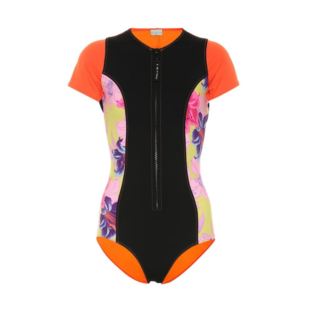 エトロ Etro レディース ワンピース 水着・ビーチウェア【Floral zip-up swimsuit】